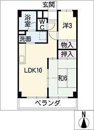 第一岡本ハイツ 103号[1階]の間取り