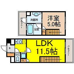 名古屋市営東山線 池下駅 徒歩5分の賃貸マンション 5階1LDKの間取り