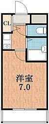 ノーブル天王寺[4階]の間取り