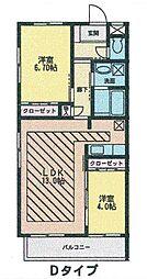 宮城県仙台市青葉区下愛子字二本松の賃貸マンションの間取り