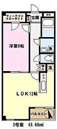 埼玉県川口市長蔵新田の賃貸マンションの間取り