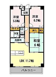 香川県観音寺市坂本町2丁目の賃貸マンションの間取り