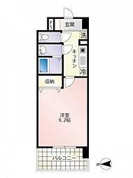 JR山陽本線 広島駅 徒歩22分の賃貸マンション 6階1Kの間取り