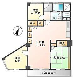 (分譲)コープ甲子園[7階]の間取り