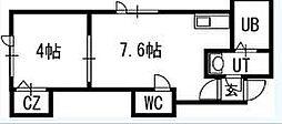 FLAT・J白石本通B棟[203号室]の間取り