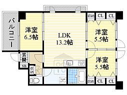 サンライズ桜の町 3階3LDKの間取り