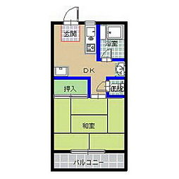 大根アパート[203号室]の間取り