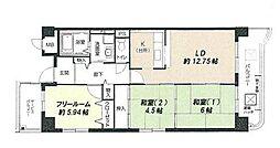 ファミーユ西梅田[7階]の間取り