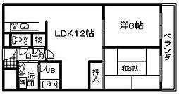 城南マンション 2[202号室]の間取り