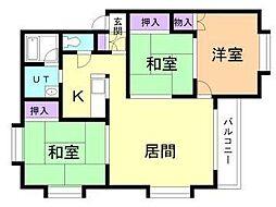 北海道札幌市東区北五十一条東6丁目の賃貸アパートの間取り
