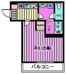 埼玉県さいたま市中央区本町西2丁目の賃貸アパートの間取り