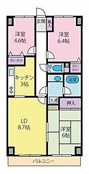 ラブリハイツ[12階]の間取り