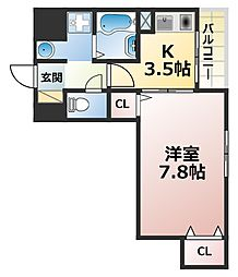 コンフォール六甲[3階]の間取り