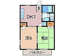 静岡県駿東郡小山町須走の賃貸アパートの間取り