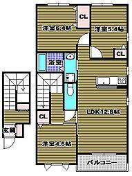 シャーメゾンサラ[206号室]の間取り