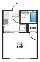 シティハイムムサシノ[203号室]の間取り