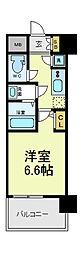 レジュールアッシュ天王寺PARKSIDE[6階]の間取り
