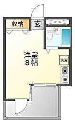 ルベラージュ甲子園[1階]の間取り