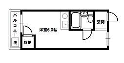ベルハイム俊徳道[1階]の間取り