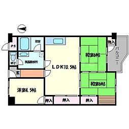 新千里南町第一次住宅[3階]の間取り
