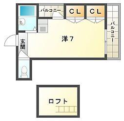 ニューハイツ桜IV[4階]の間取り