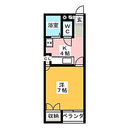 パレス大竹[2階]の間取り