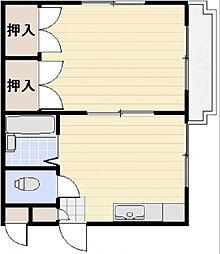 シャトレ紅梅[1階]の間取り