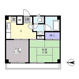 杉本マンション[305号室]の間取り