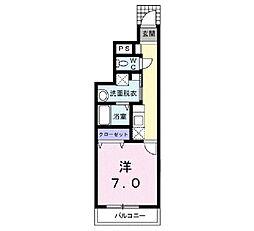 富山県富山市婦中町砂子田の賃貸アパートの間取り