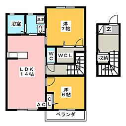 カーサレジオK[2階]の間取り