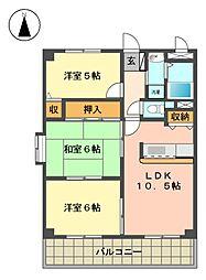 愛知県名古屋市千種区新西1丁目の賃貸マンションの間取り