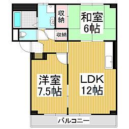 レジデンス筒井[2階]の間取り