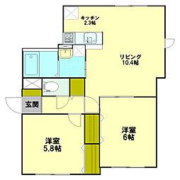 ファミリーコート新札幌[2階]の間取り