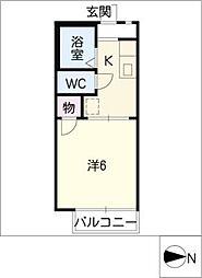 ドミトリーKITAA棟[1階]の間取り