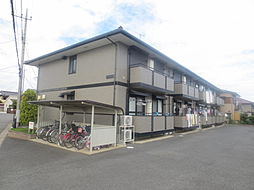 茨城県ひたちなか市大字中根の賃貸アパートの外観