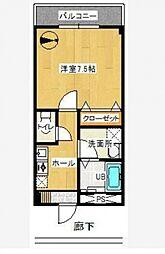 東京都八王子市中野上町3丁目の賃貸マンションの間取り