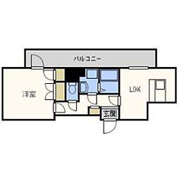 福岡県福岡市中央区平尾3丁目の賃貸マンションの間取り