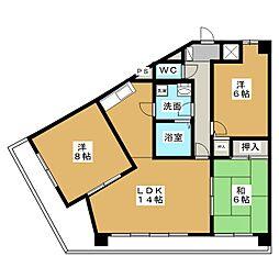知立タイガーマンション[4階]の間取り