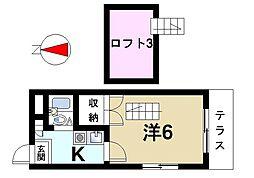 レオパレス尼ヶ辻[1階]の間取り