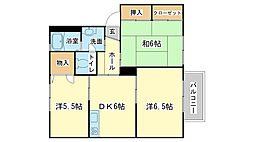 エコーズユタカ B棟[B102号室]の間取り
