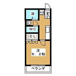 JOY OF LIFE 鶴川 7階1Kの間取り