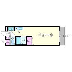 クリークサイドマンション A棟[2階]の間取り
