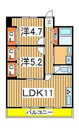 桜台染谷ハイツ[401号室]の間取り