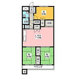 エクセレント草薙[4階]の間取り