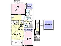 アイリスD・E棟[2階]の間取り