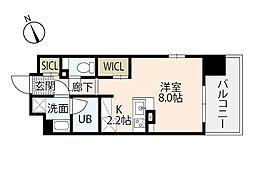BANKARA PLACE 3階ワンルームの間取り