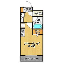 カツラギ ヴィレッジ[3階]の間取り