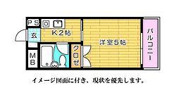 ハイネス江波--[903号室]の間取り