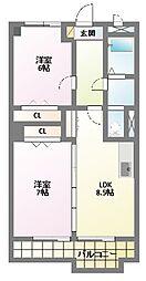 IDAKADAI BLG[2階]の間取り