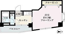 クレベール西新宿[708号室]の間取り
